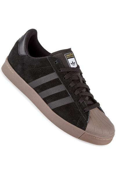 adidas Superstar Vulc ADV Shoe (black gold gum)