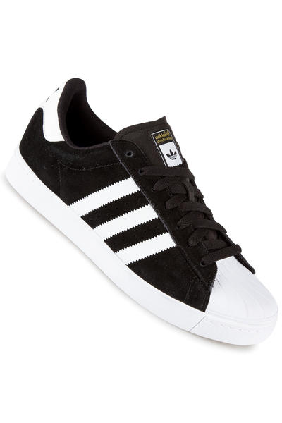 adidas Superstar Vulc ADV Schuh (black white gold)