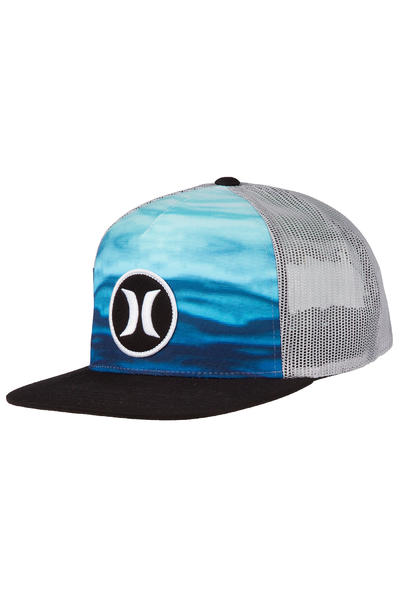 Hurley Block Party Flow Trucker Cap (blue black)