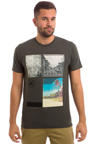 Hurley Fragment T-Shirt (dark heather grey)