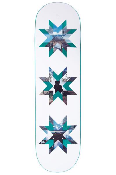 "Quasi Skateboards Crockett Quilt 8.5"" Deck (white teal)"