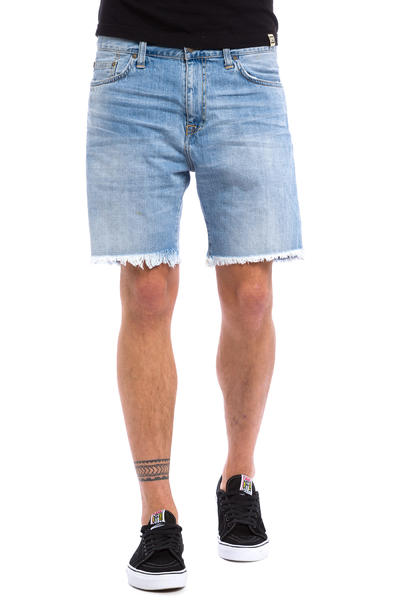 Carhartt WIP Davies Open Hem Oetro Shorts (blue burst washed)