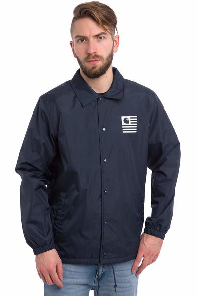 Carhartt WIP State Coach Jacket (blue white)