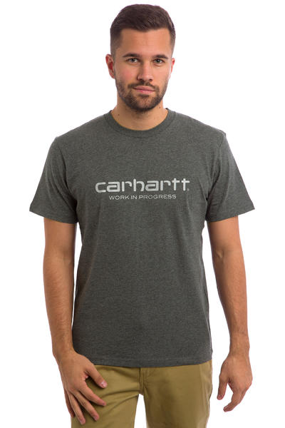 Carhartt WIP Script T-Shirt (dark grey heather reflective)
