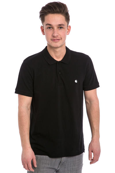 Carhartt WIP Slim Fit Polo Polo-Shirt (black white)