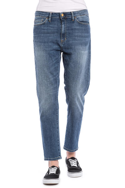 Carhartt WIP W' Domino Ankle Pant Galena Jeans women (blue rib washed)