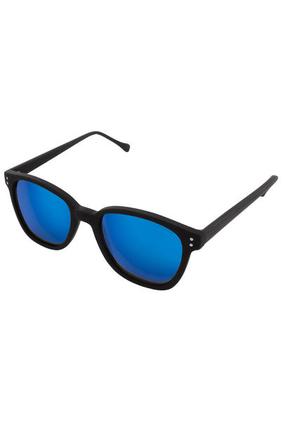 Komono Renee Gafas de sol (black rubber blue mirror)