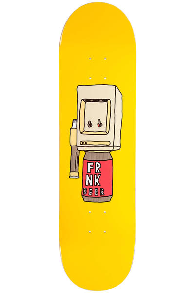 "Frank Beer Cooler 8.375"" Planche Skate (yellow)"