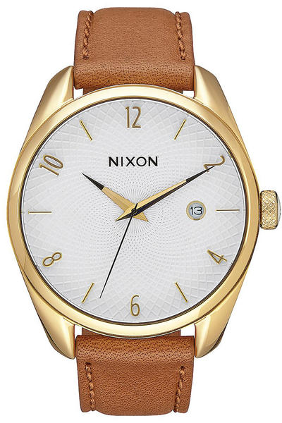Nixon The Bullet Leather Watch women (gold saddle)