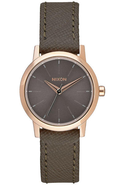 Nixon The Kenzi Leather Uhr women (rose gold taupe)