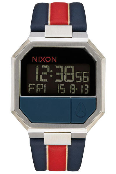 Nixon The Re-Run Leather Uhr (white stripes)