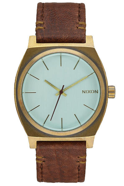 Nixon The Time Teller Watch (brass green crystal brown)