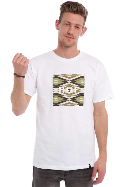 HUF Cabazon Box Logo T-Shirt (white)