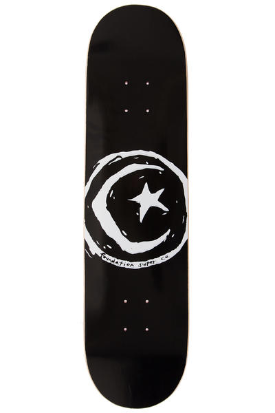 "Foundation Star & Moon 8"" Deck (black)"