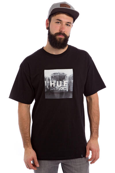 HUF Transit Box Logo T-Shirt (black)