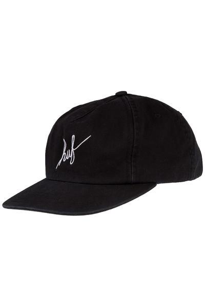 HUF Washed Script Snapback Cap (black)