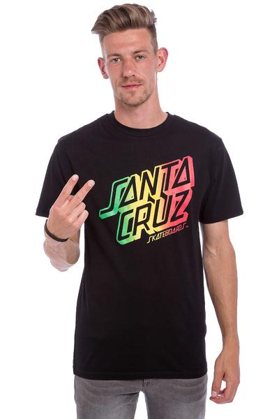 Santa Cruz Rasta Stack T-Shirt (black)