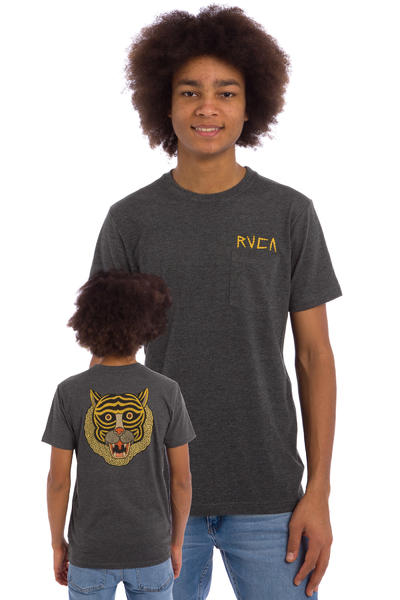 RVCA Bolt Tiger T-Shirt (charcoal heather)