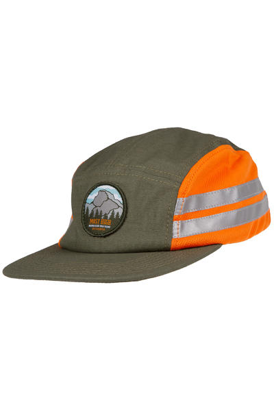 Official Crown of Laurel MH Camper 5 Panel Cap (green orange)