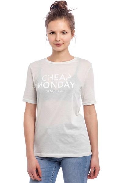 Cheap Monday Break Hot Logo T-Shirt women (dirty white)