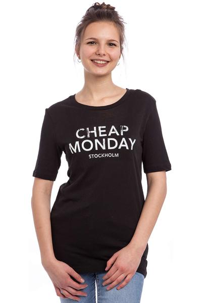 Cheap Monday Break Hot Logo T-Shirt women (moon black)