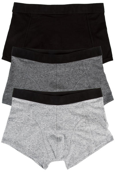 Cheap Monday Stretch Trunks Boxershorts (black grey melange) 3er Pack