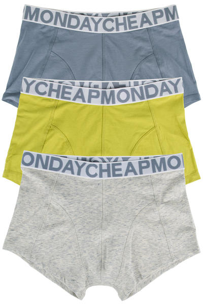 Cheap Monday Stretch Trunks Boxershorts (yellow greenish) 3er Pack