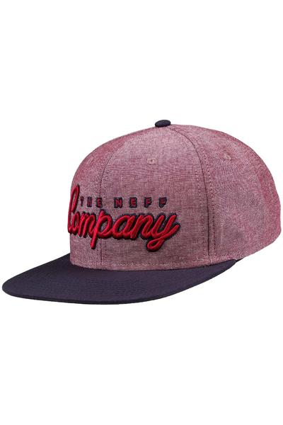 Neff The Company Snapback Cap (red navy)