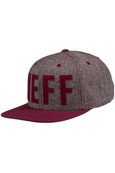 Neff Brother Snapback Cap (maroon)