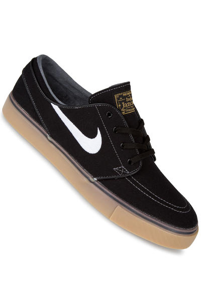 Nike SB Zoom Stefan Janoski Canvas Shoe (black white metallic gold)