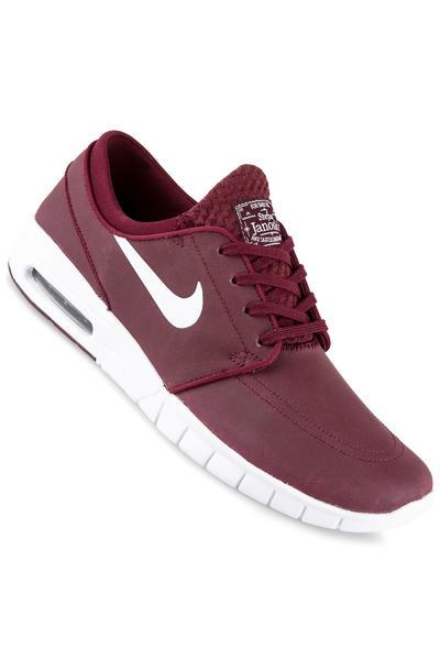 Nike SB Stefan Janoski Max Suede Shoe (night maroon white)
