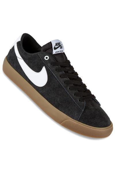 Nike SB Blazer Low Grant Taylor Schuh (black white metallic gold)