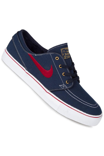 Nike SB Zoom Stefan Janoski Canvas Shoe (obsidian team red)
