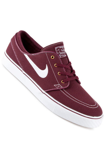 Nike SB Zoom Stefan Janoski Canvas Shoe (night maroon white)