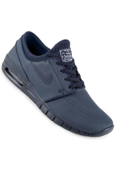 Nike SB Stefan Janoski Max Leather Schuh (obsidian white)