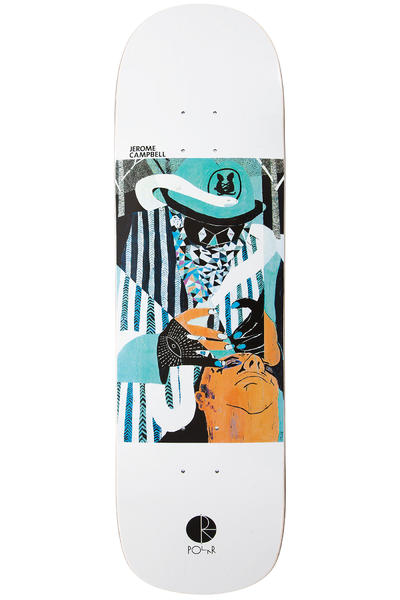 "Polar Skateboards Campbell Psychic Surgury AMTK P8 8.8"" Deck (white)"