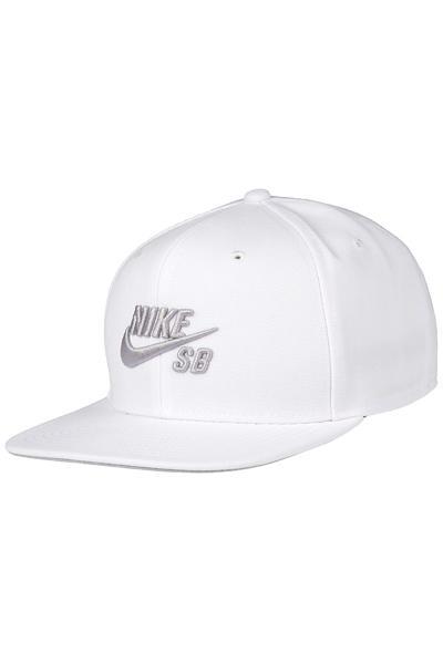 Nike SB Icon Snapback Cap (white wolf grey black wolf grey)