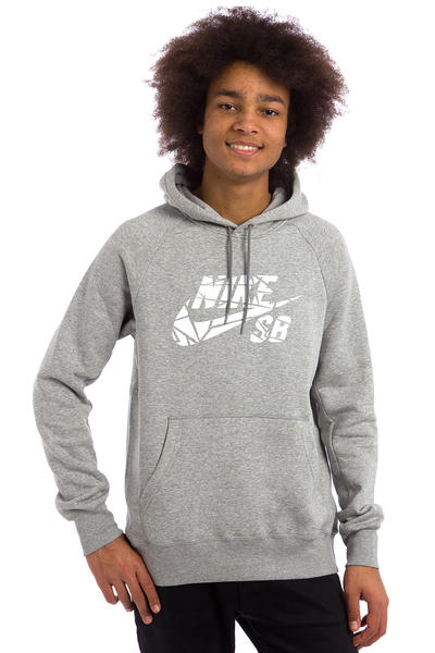 Nike SB Icon Griptape Hoodie (dark grey heather white)