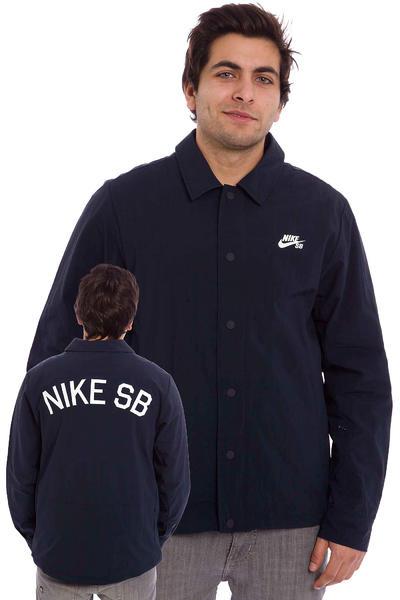 Nike SB Coaches Jacke (dark obsidian white)