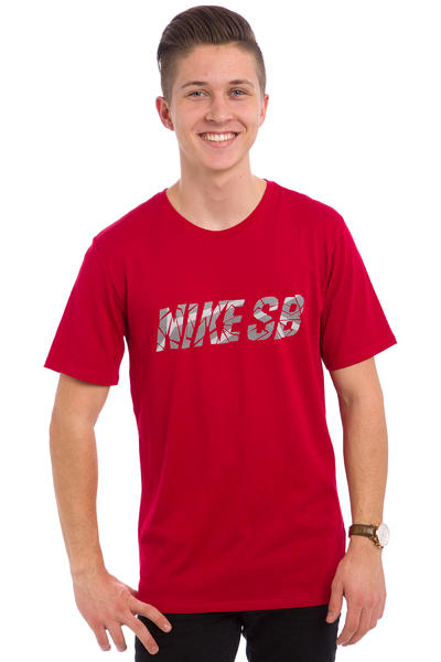 Nike SB Fractile T-Shirt (gym red white)