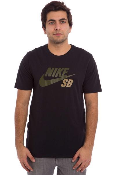 Nike SB Icon Reflective T-Shirt (black black black cargo khaki)