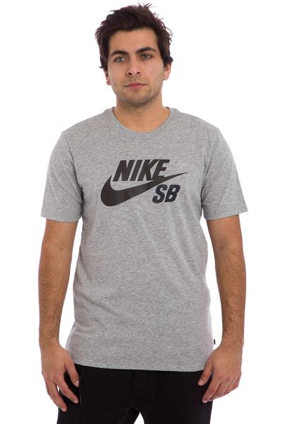 Nike SB Icon Reflective T-Shirt (dark grey heather black)