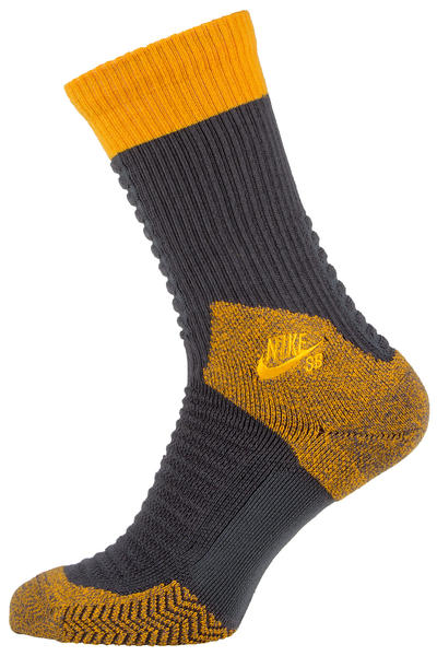 Nike SB Elite Skate 2.0 Socks US 6-12 (dark grey gold leaf)