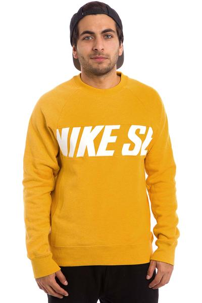 Nike SB Everett Motion Sweatshirt (pro gold heather white)