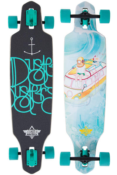 """Dusters Sunken 38"""" (96,5cm) Complete-Longboard (turquoise)"""