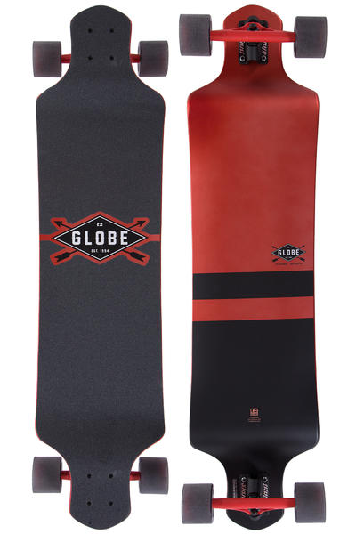 "Globe Geminon Drop-Down 41"" (104cm) Komplett-Longboard (red black)"