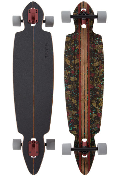 "Globe Pinner Drop-Through 41"" (104cm) Complete-Longboard (brown leaves)"