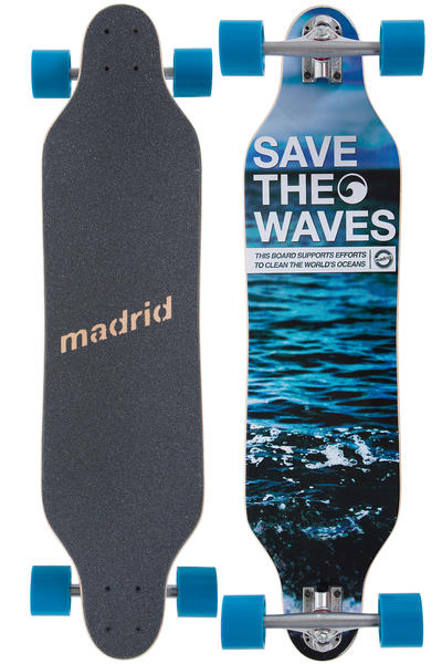 "Madrid Weezer 36"" (92cm) Complete-Longboard (save the waves)"