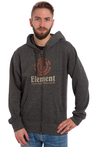 Element Vertical Zip-Hoodie (charcoal heather)