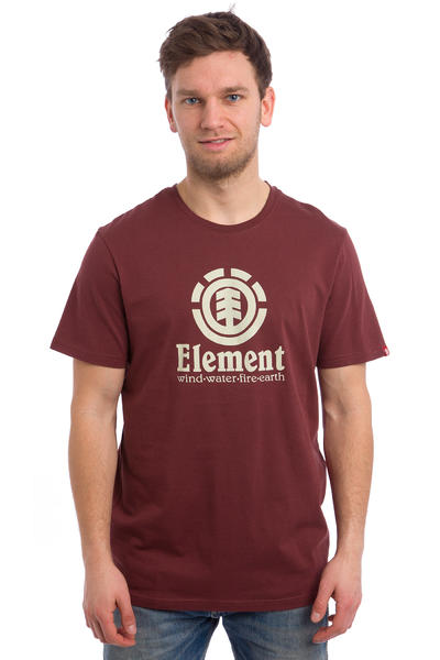 Element Vertical T-Shirt (oxblood red)